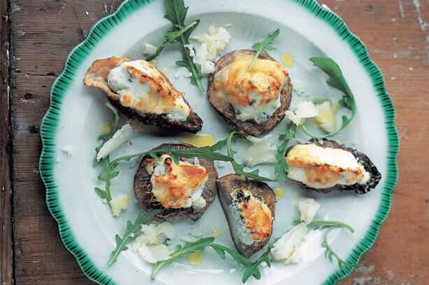 Baked mushrooms stuffed with ricotta (Funghi al forno ripieni di ricotta) by Jamie Oliver