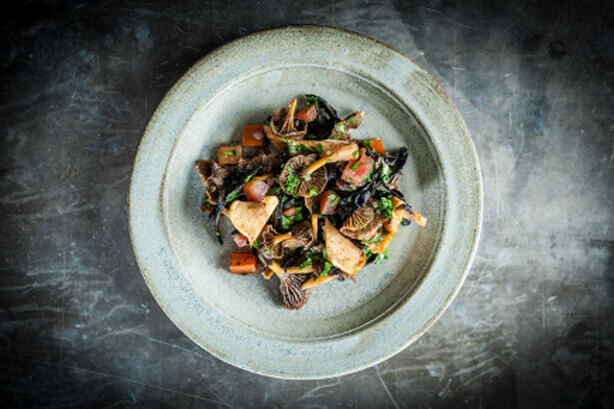 Fricassée of wild mushrooms from Kitchen Secrets by Raymond Blanc