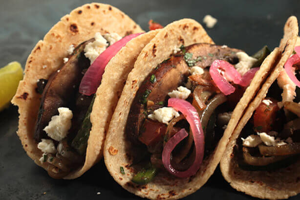 Mushroom and Chile Tacos