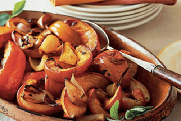 Roasted Pumpkin with Shallots