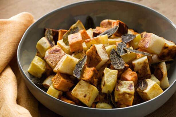 Roasted Sweet Potatoes Potatoes and Sage