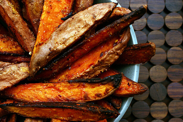 Spicy sweet potato wedges + five etceteras