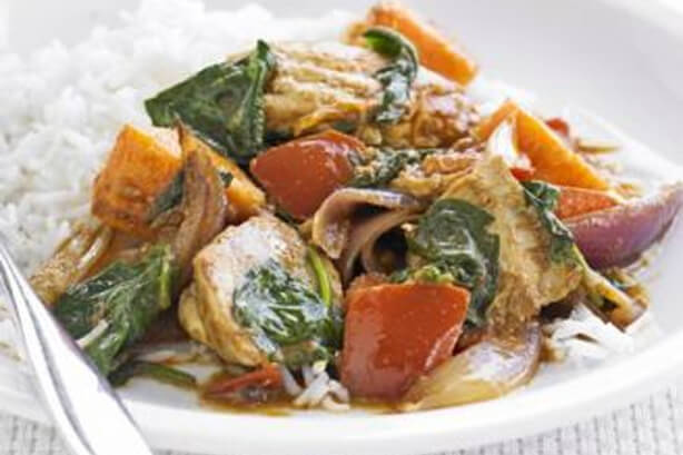 Sweet potato & chicken curry