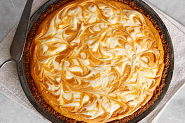 Sweet Potato Pie with Cream Cheese Swirl